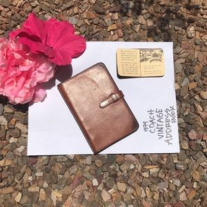 COACH VINTAGE LEATHER ADDRESS BOOK